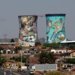 Soweto with the iconic Orlando Towers, remnants of a defunct power station