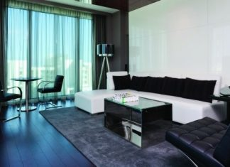 Guestroom at the Hotel Beaux Arts Miami.
