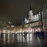 The Grand Place at night.