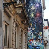 Comic book mural, Brussels.