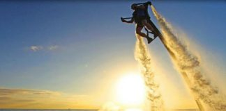Guests at TradeWinds Island Grand can now fly over water with JetLev.