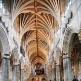 Interior of Exeter cathedral.