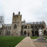 The cathedral at Exeter in Devon.