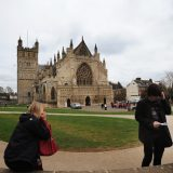 The cathedral at Exeter in Devon dates back to the Middle Ages.