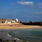 The seaside town of St. Ives in Cornwall.