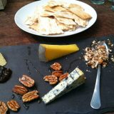 We recommend a sampler platter like this one if your clients stop in at Sweet Grass Dairy cheese shop.