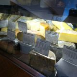 Just a sample of the homemade cheeses available for sale at Sweet Grass Dairy cheese shop.
