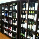 The wine wall at Sweet Grass Dairy cheese shop...can't let all those cheeses go without a good pairing!