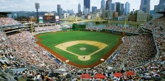 PNC Park in Pittsburgh, PA, is home to the Pittsburgh Pirates.