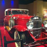 Inside the onsite Auto Museum.