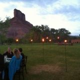Dining in the company of grand landscapes.
