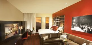The suite tower offers 500-sq.-ft. accommodations.