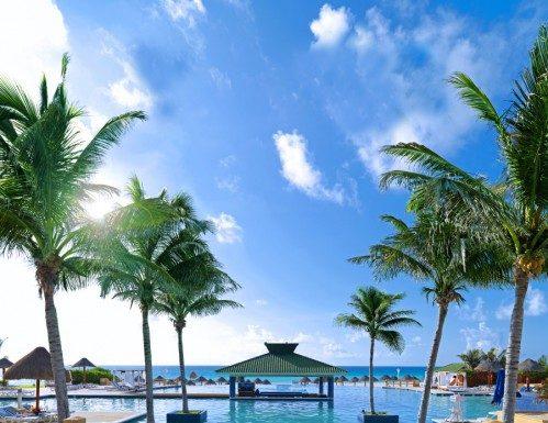 The resort's mega pool deck.