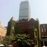 Prudential Building as seen from Newbury Street.