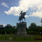 George Washington statue at Boston's Public Garden.