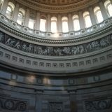 Inside the Capitol Building's dome.
