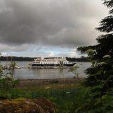 Safari Endeavour docked at Bartlett Cover at the entrance of Glacier Bay.