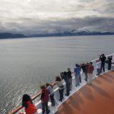 Safari Endeavour's passengers enjoy the beautiful Alaskan landscapes near Thomas Bay.
