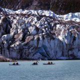 Safari Endeavour's passengers enjoying an early morning kayak near Baird Glacier.
