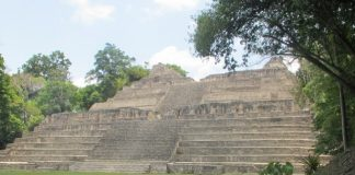 Pyramid Temple of Caracol.