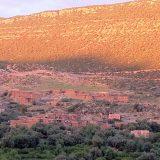 Kasbah Tamadot view of Atlas Mountains
