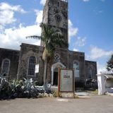 A historical church from the nearby town of Falmouth.
