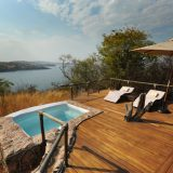 Every suite has a private plunge pool with spectacular views of Lake Tanganyika.