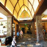 The hallways of Aulani, A Disney Resort & Spa pay homage to the rich Hawaiian heritage of a bygone era.