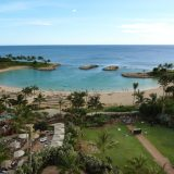 The resort sits on 21 oceanfrtont acres in the Ko Olina Resort Community and Marina, approximately 25 minutes from Honolulu in Oahu.