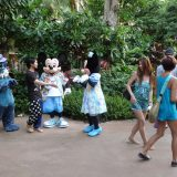 Disney characters routinely mingle with guests at the child-friendly resort where activities range from interactive computer games to classes teaching Hawaiian history and traditions.