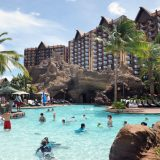 The Menehune Oasis is a wading pool patterned after Hawaiian natural springs that once were common to the islands.