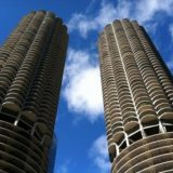 Chicago's famous Marina Towers, known as the Honeycomb Towers, make one of many landmark buildings in the city, seen in various movies, TV shows and videogames.
