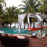 Poolside at El Secreto on Ambergris Caye in Belize.