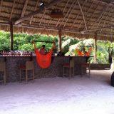 At the bar at El Secreto in Ambergris Caye in Belize.