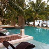 Poolside at El Secreto on Ambergris Caye on Belize.