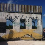 Lazy Lizard bar, the place to hang out on Caye Caulker.