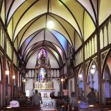 Interior of Nagasaki's landmark Oura Catholic Church.