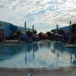 """The """"Big Blue"""" pool is the largest of the three pools at the resort and has a bunch of cool features, including underwater speakers that play music and messages from the """"Finding Nemo"""" characters."""