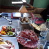 Raclette lunch in Italy.