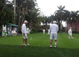 Croquet at Boca Raton Resort & Club.