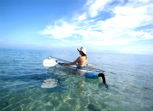 Kayaking in Cozumel.