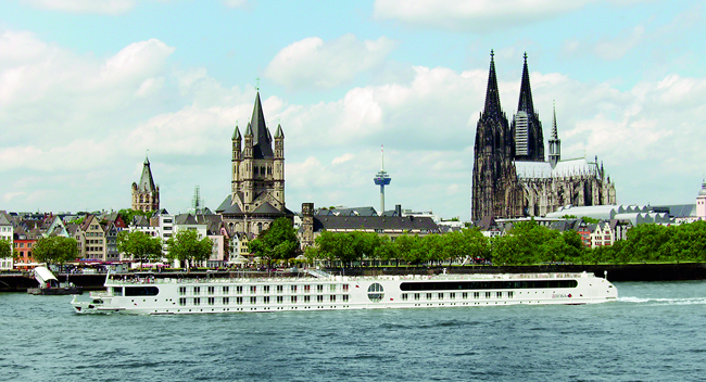 A-ROSA's Aqua sails on the Panoramic Adventures cruise on the Rhine.