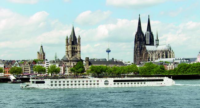 A-ROSA's Aqua sails on the Panoramic Adventures cruise on the Rhine.