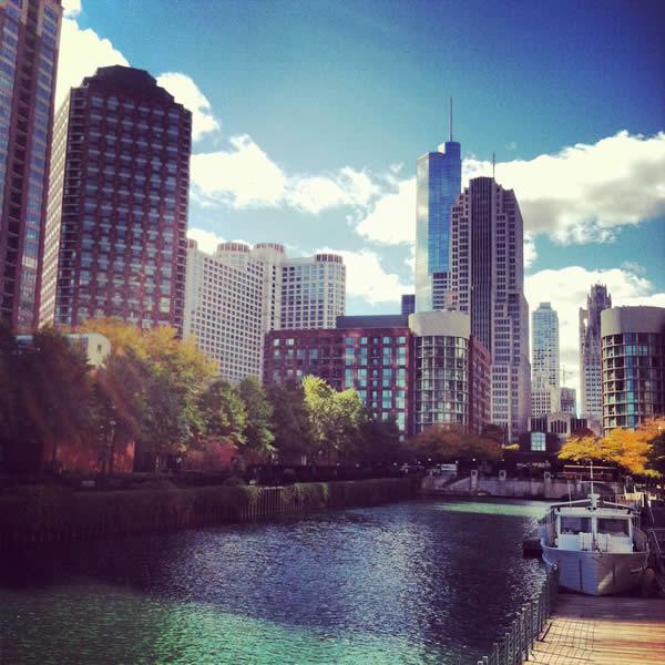 Chicago's cityscape.