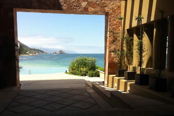 View of Puerto Vallarta from Garza Blanca Preserve Resort & Spa.