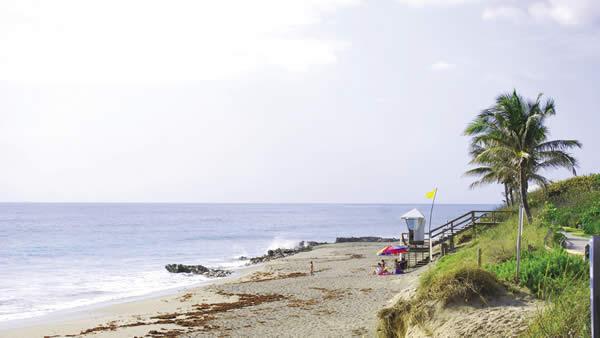Jupiter Beach, courtesy of Palm Beach County Convention & Visitors Bureau