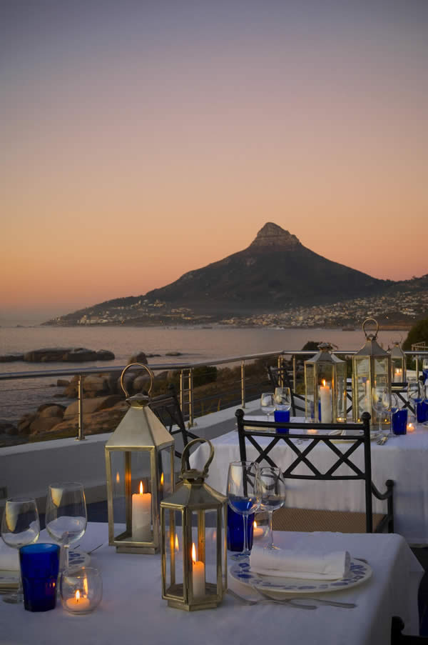 Azure Restaurant at The Twelvw Apostles Hotel and Spa in South Africa.