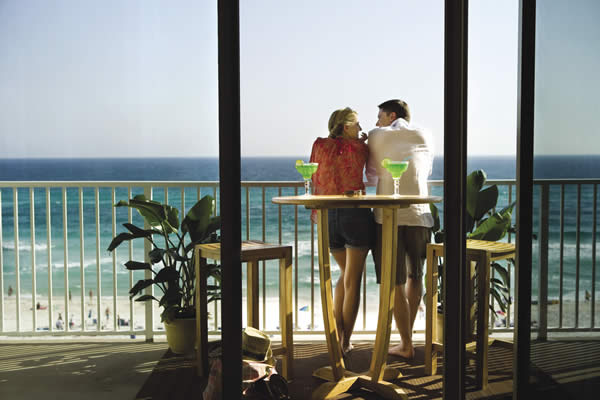 Panama City Beach Balcony, courtesy of Panama City Beach Convention & Visitors Bureau