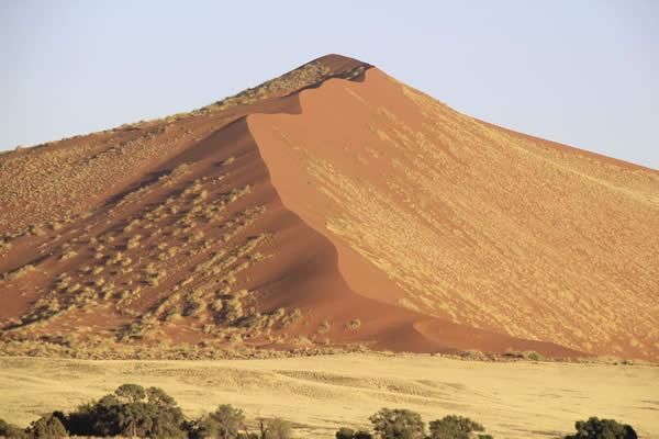 Namibia's iconic sand dunes.