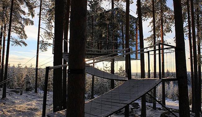 Treehotel in Sweden.